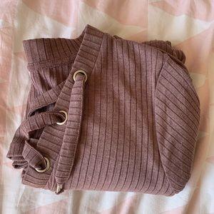 Tops - cute purple cross straps shirt